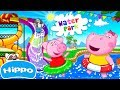 Hippo 🌼 Water Park 🌼 Fun Water Slides 🌼 Cartoon game for kids