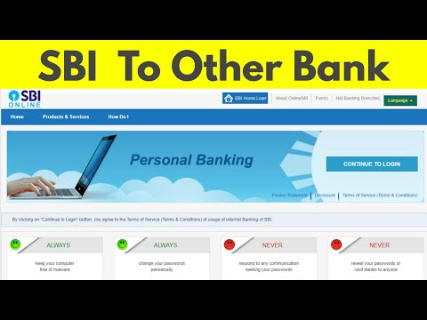 How To Transfer Send Money From Sbi Other Bank Account Through Internet Banking