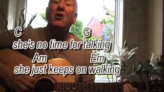 Streets of London - Ralph McTell - cover - easy chords guitar lesson - on-screen chords and lyrics