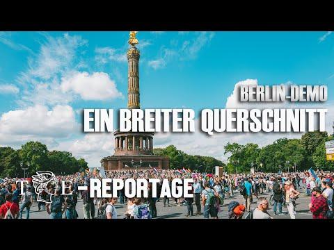 TE-Reportage aus Berlin: Bei der Demo in Berlin ein breiter Querschnitt
