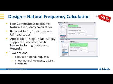 Natural frequency calculations in Tekla Structural Designer 2019i
