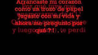 Sin tu amor Vico C (letra )
