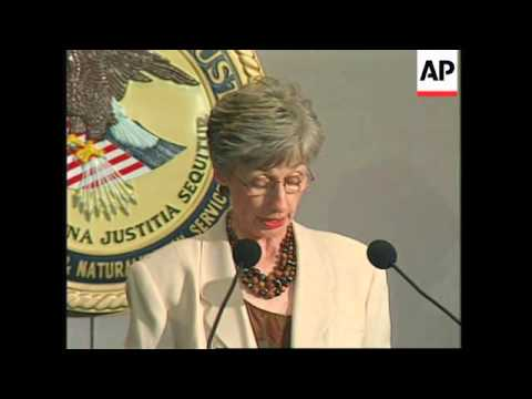USA: IMMIGRATION OFFICIAL DORIS MEISSNER PRESS CONFERENCE