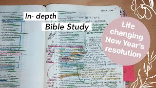 This is a life-changing new year's resolution... because it's all about god softening your heart and transforming you with his word! in-depth bible stud...