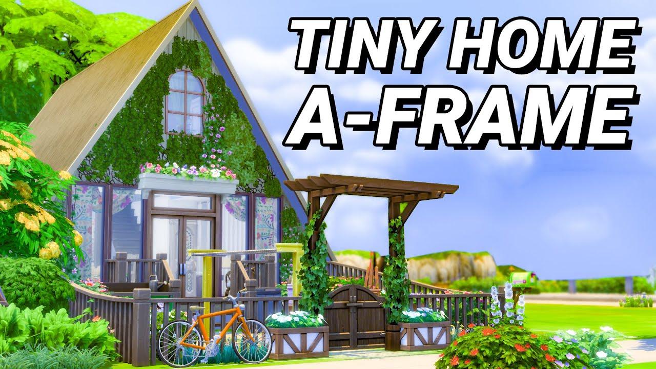 Tiny Home, A-Frame Style! (Sims 4) thumbnail