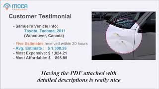 MOCA Auto Body Estimator - Customer Testimonial (Vancouver, BC, Canada)
