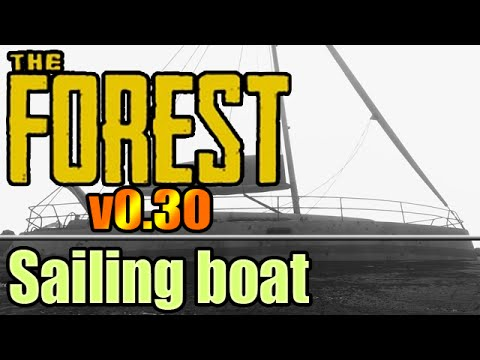 The Forest v0.30 - Man on boat spotted