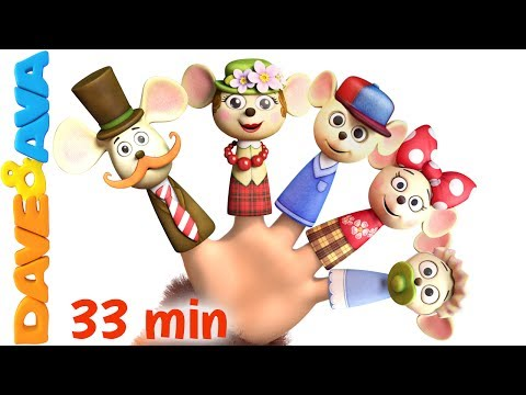 Thumbnail: 👍 Finger Family | Nursery Rhymes: Daddy Finger Song and More Children's Songs from Dave and Ava 👍