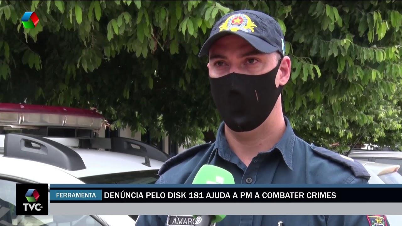 Denúncia pelo Disk 181 ajuda a PM a combater crimes
