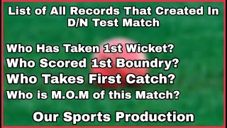 List Of All Records that created in First India's Day/Night Test match    Our Sports Production   