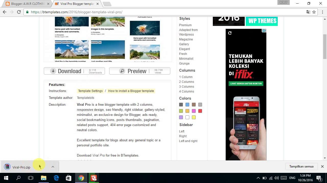 Cara mengganti template blog menjadi keren dan banyak pengunjung
