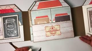 Зимняя Фото папка. Скрапбукинг. Обзор. Фото папка в форме тэга