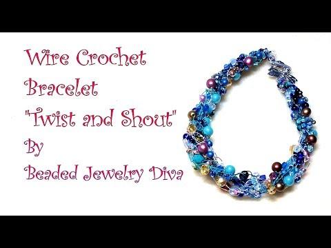Wire Crochet Bracelet Twist and Shout - Beaded Jewelry Tutorial