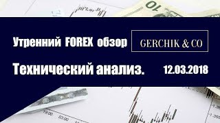 ✅Технический анализ основных валют 12.03.2018 | Утренний обзор Форекс с GERCHIK & CО