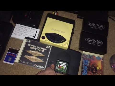 Using TurboEverdrive as a Super System Card; testing repaired PC Engine CD-ROM² & TurboGrafx-CD dock