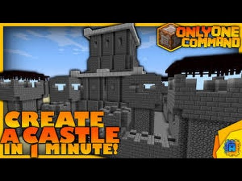 MINECRAFT HOW TO MAKE A CASTLE With One Command Block