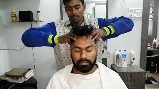 Asmr head massage with neck cracking