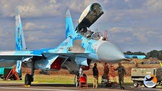 Su-27 Flanker start up to shut down   Ukrainian Air Force   EBBL