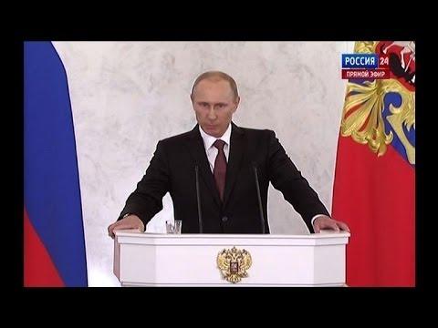 Putin signs treaty on Crimea joining Russia
