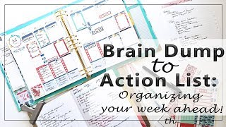Brain Dump to Action List | a Plan with Me Weekly Set Up with my Petite Planner and EC Binder