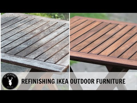 Refinishing Ikea outdoor furniture