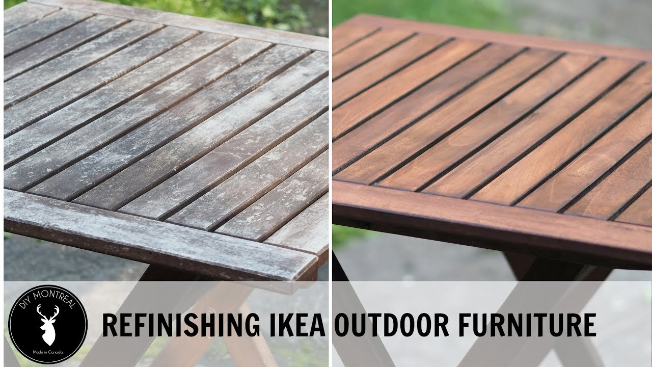 Refinishing Ikea outdoor furniture - Refinishing Ikea Outdoor Furniture - YouTube