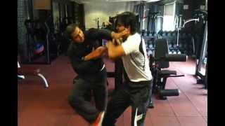 Blindfolded martial arts training