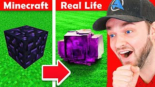 *NEW* MINECRAFT vs REAL-LIFE! (MUST SEE)