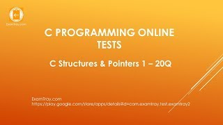 C Programming Structures and Pointers Online Test 1 with Interview FAQ Question