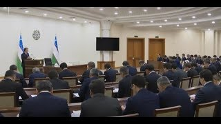 Oʻzbekiston Prezidenti Shavkat Mirziyoyev 2019-yil 2-dekabr kuni yigʻilish oʻtkazdi
