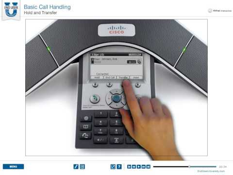 CISCO 7937 Conference Phone - Hold and Transfer