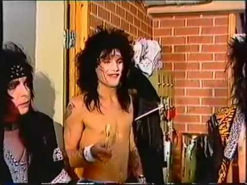 Motley Crue  Interview 1986 Nikki Tommy And Mick Backstage