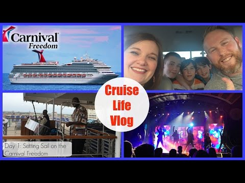 Cruise Life Vlog: Carnival Freedom - Day 1: Boarding the Ship & Setting Sail