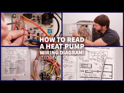 How To Read A Heat Pump WIRING DIAGRAM! Schematic & Connection!