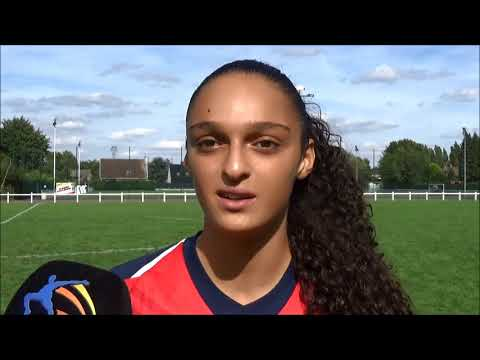 20180811 Interview with Lina Boussaha after the match between OSC Lille Féminine and KRC Genk Ladies
