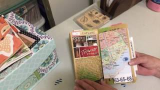 Trip to Canada Travel Journal Flip Through in my Traveler's Journal
