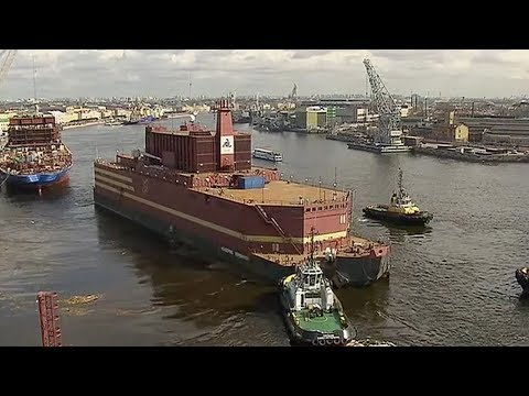 Russia's first floating nuclear plant heads out to sea