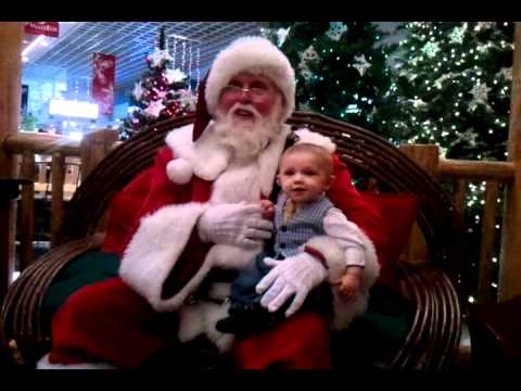 Zaide's first visit with Santa