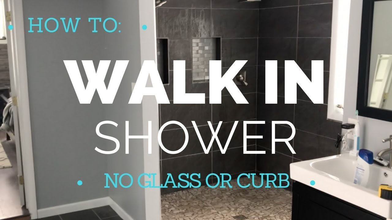 How To Build A Walk In Shower Curbless Durock