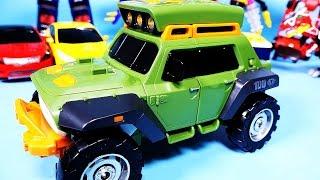 또봇 K 변신, 헬로카봇 타요 TOBOT K transfroming robot car toy