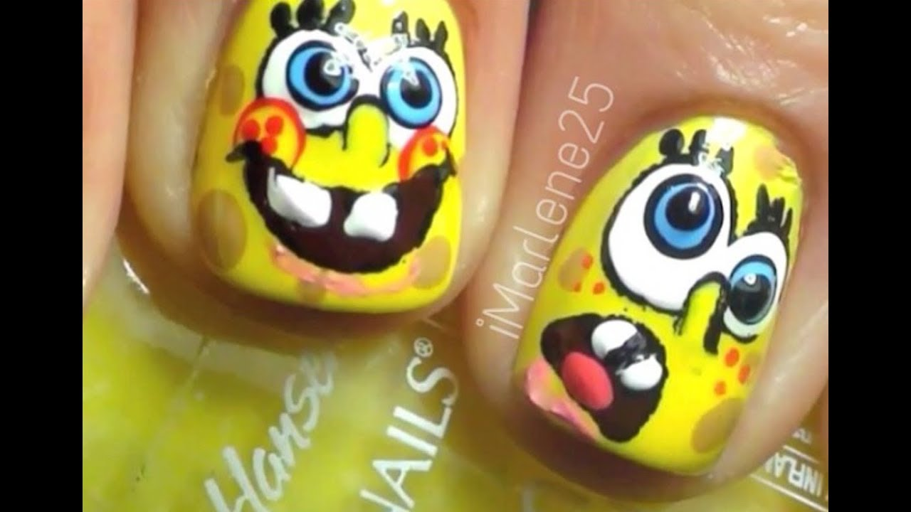 Spongebob nails youtube spongebob nails prinsesfo Image collections