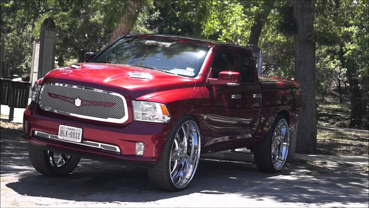 dodge ram on 32s engraved asanti wheels with air bags youtube. Black Bedroom Furniture Sets. Home Design Ideas