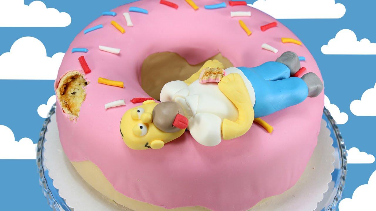 Kuchen mit fondant donut
