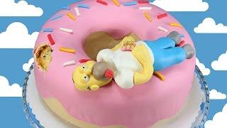 Simpsons Doughnut Cake / Homer Simpson Kuchen / Donut Cake