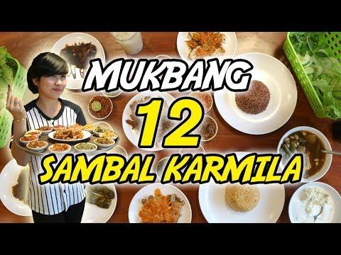 WOW!!! 12 MACAM SAMBAL KARMILA!!! DAN GOKIL KRISPI BANGET KULIT AYAM GORENGNYA!!!