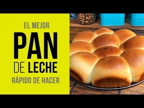 El mejor Pan de Leche Rápido de Hacer [Receta Fácil]