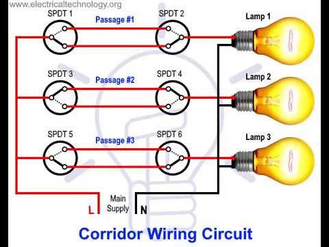 corridor wiring circuit diagram hallway wiring using spdt switches