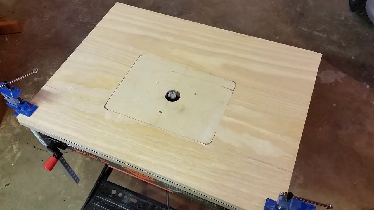 Extremely simple and inexpensive router table for around 20 youtube greentooth Image collections