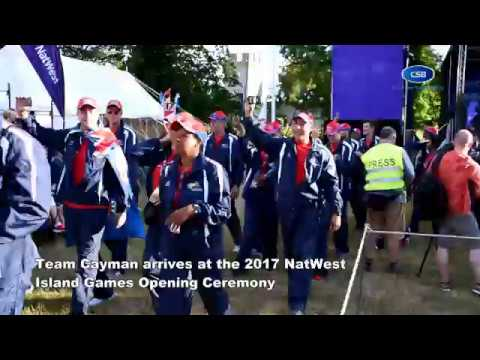 Team Cayman arrives at 2017 NatWest Island Games Opening Ceremony