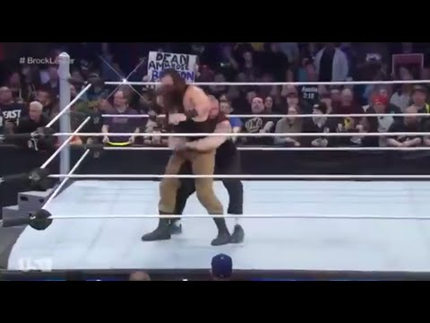 Brock Lesnar Takes Braun Strowman To Suplex City